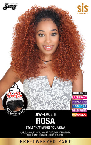 Zury Diva-Lace H Rosa Synthetic Wig