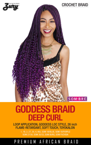 Zury Goddess Braid/Zury Loc Deep Curl Synthetic Braiding Hair Crochet Braid 26