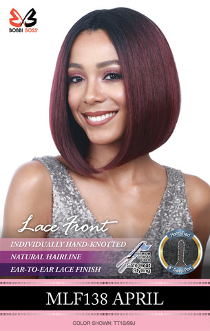 Bobbi Boss MLF 138 April Synthetic Lace Front Wig