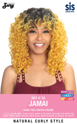 Zury NAT 3A Jamai Synthetic Wig Hand-Tied Center Crown