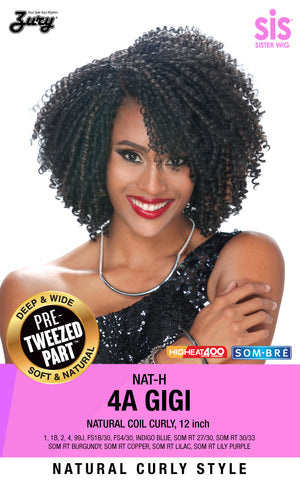 Zury Sis NAT-H 4A Gigi Naturali Star Pre-tweezed part Wig