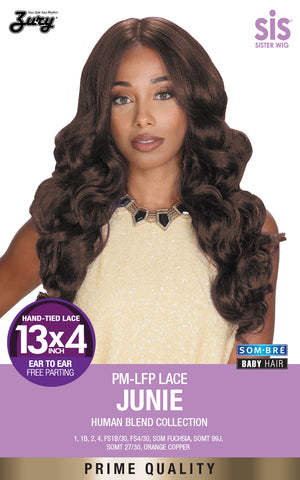 Zury Sis PM-LFP Junie Lace Front Wig Human Blend Collection