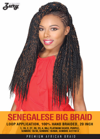 Zury Senegalese Big Braid Synthetic Braiding Hair