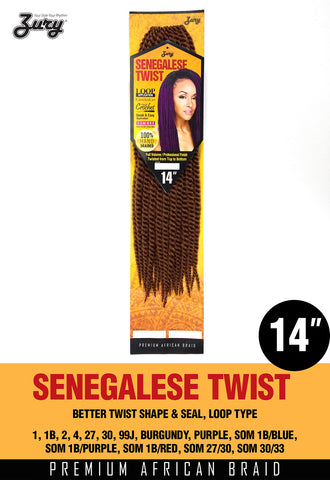 Zury Senegalese Twist 14 Synthetic Braiding Hair