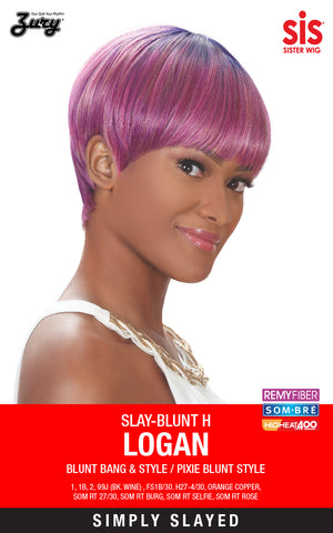 Zury Slay-Blunt H Logan Synthetic Lace Front Wig