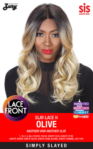 Zury Slay-Lace H Olive Synthetic Lace Front Wig
