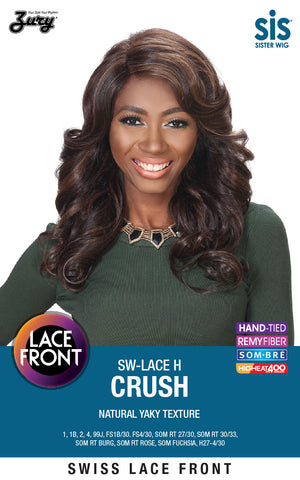 Zury SIS SW-Lace H Crush Lace Front Wig Yaky Texture