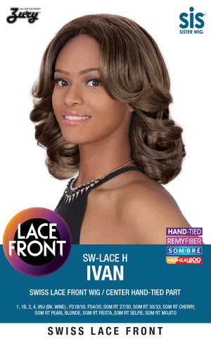 Zury SIS SW-Lace H Ivan Lace Front Wig Center Hand-tied