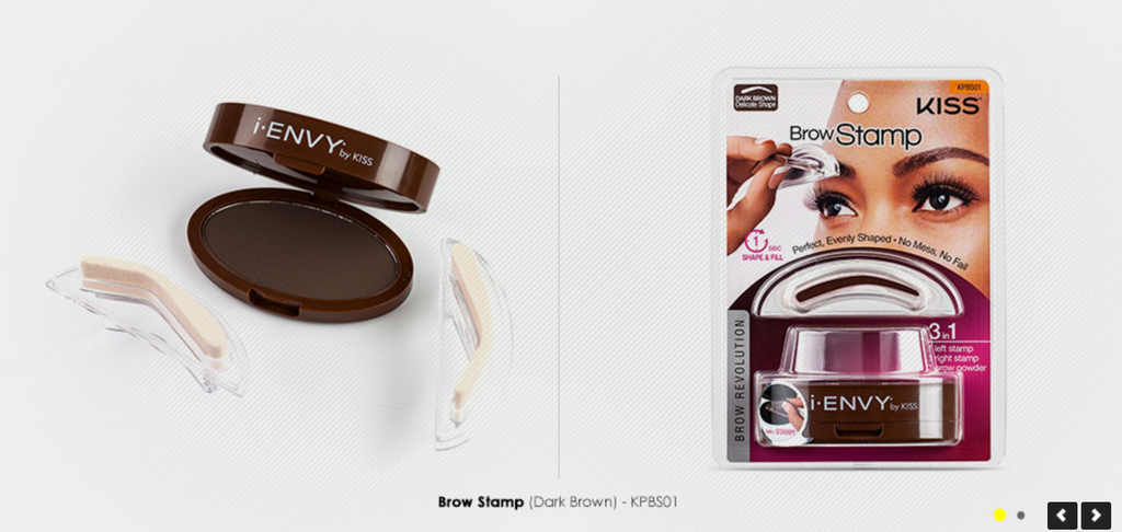 Kiss Brow Stamp Powder Delicate Natural Shape Perfect Eyebrow