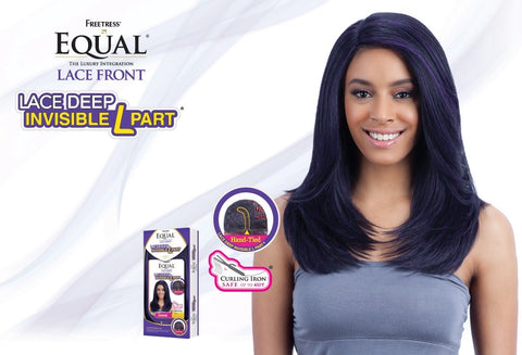 FreeTress Equal Jannie Lace Deep Invisible L Part Synthetic Lace Front Wig