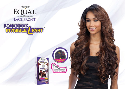 Freetress Equal Karissa Deep Invisible L Part Synthetic Lace Front Wig