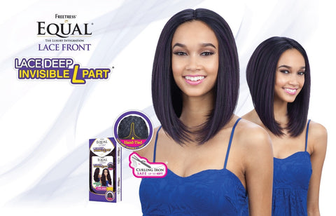 Freetress Equal Kiss Blossom Deep Invisible L Part Synthetic Lace Front Wig