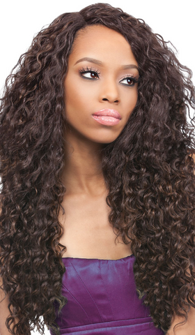 Outre Synthetic Lace Front L - Part Batik Peruvian Wig