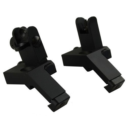 Tactical Backup Front and Rear Flip Up 45 Degree Offset Rapid Transition Iron Sight
