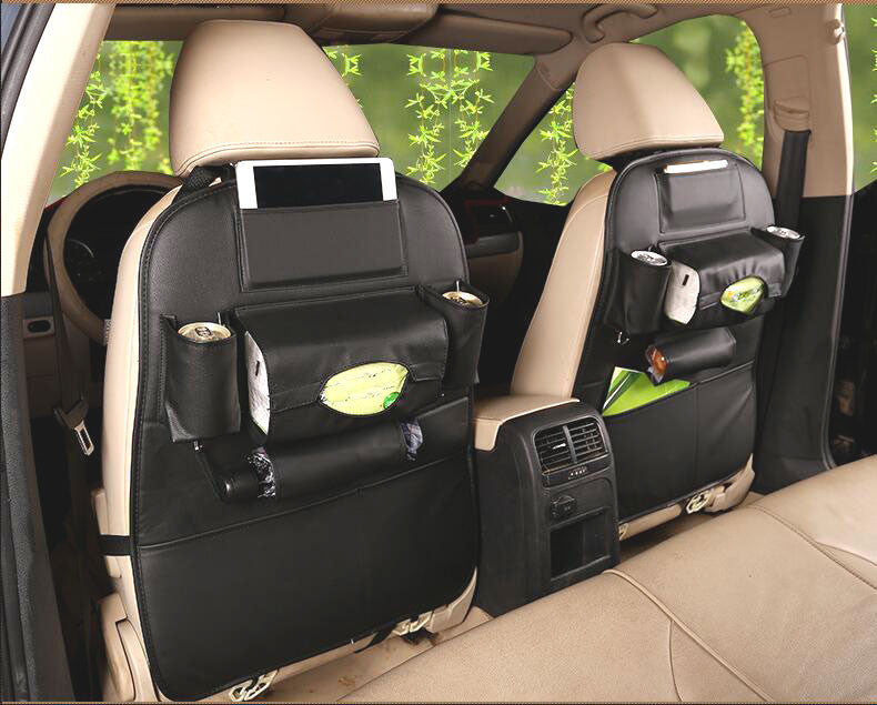Premium Eco-Leather Back Seat Organizer