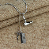 Hair Dresser Silver Necklace