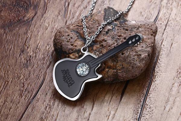 Men's Guitar Necklace