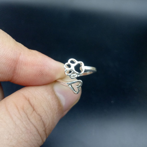 Always By My Heart Adjustable Sterling Ring
