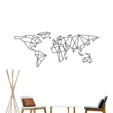 Geometric World Map Wallsticker
