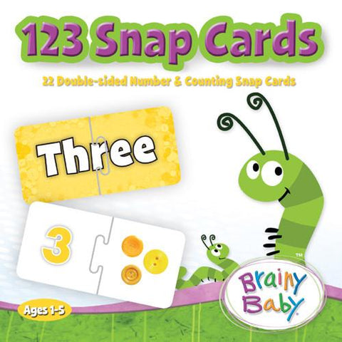 Brainy Baby Learn 123s Snap Card Puzzle Game