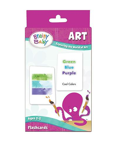 Brainy Baby Art Flashcards Set Exploring the World of Art Deluxe Edition