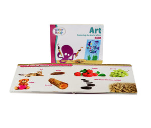 Brainy Baby® Exploring the World of Art Board Book, Flashcards & DVD Collection for Preschool Children