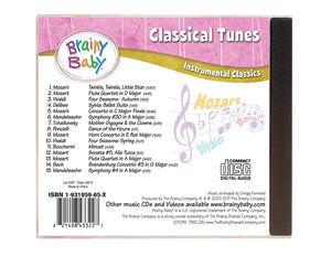 Brainy Baby Classical Tunes Music CD Instrumental Classics Song List Back Cover