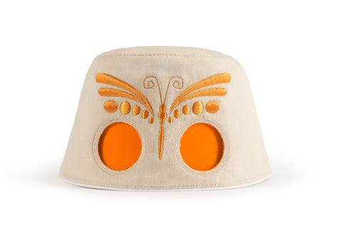COOEEE Butterfly Sunglasses Hat Tan and Orange with Orange Lenses by Boomerang Baby