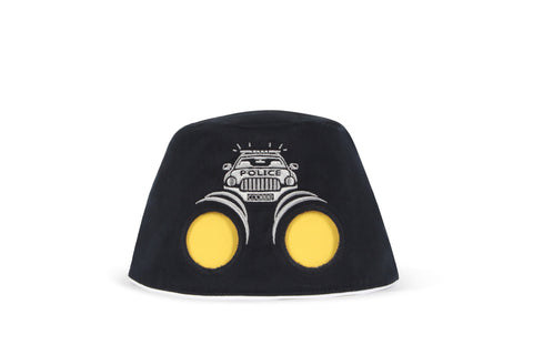 COOEEE Police Car Sunglasses Hat Black with Yellow Lenses by Boomerang Baby