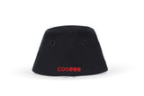 COOEEE Skater Sunglasses Hat Black and Red with Blue Lenses Back View by Boomerang Baby