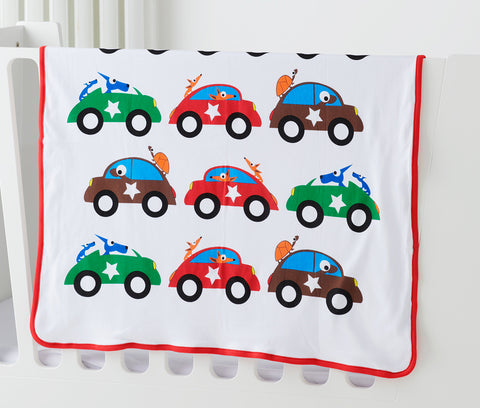 EGGKIDS CARS Blanket 100% Organic Cotton