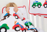 EGGKIDS CARS Bedset Crib/Duvet Cover and Pillowcase 100% Organic Cotton Peekaboo Child