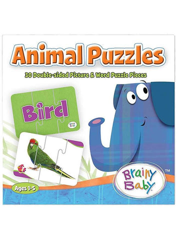 Brainy Baby Animal Puzzles Matching Game
