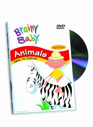 Brainy Baby® Animals Apes to Zebras DVD Classic Edition