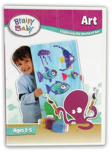 Brainy Baby Art DVD Exploring the World of Art Deluxe Edition