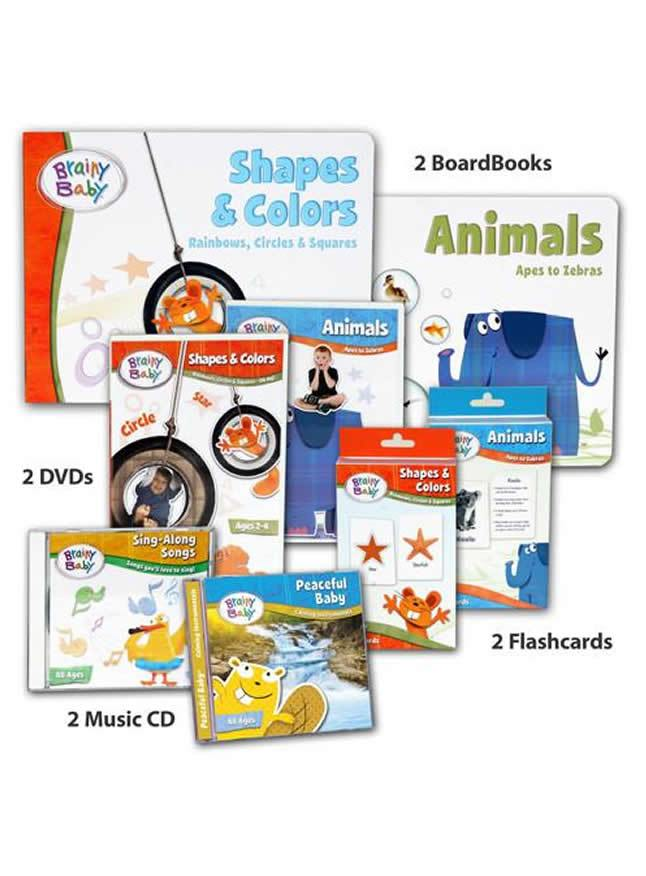 Brainy Baby Animals, Shapes & Colors Learning Collection Deluxe Edition