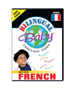 Bilingual Baby Learn French Total Immersion DVD for Babies and Toddlers by Small Fry Beginnings
