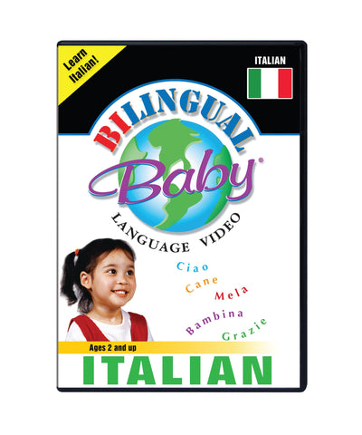 Bilingual Baby Learn Italian Total Immersion DVD for Babies and Toddlers by Small Fry Beginnings