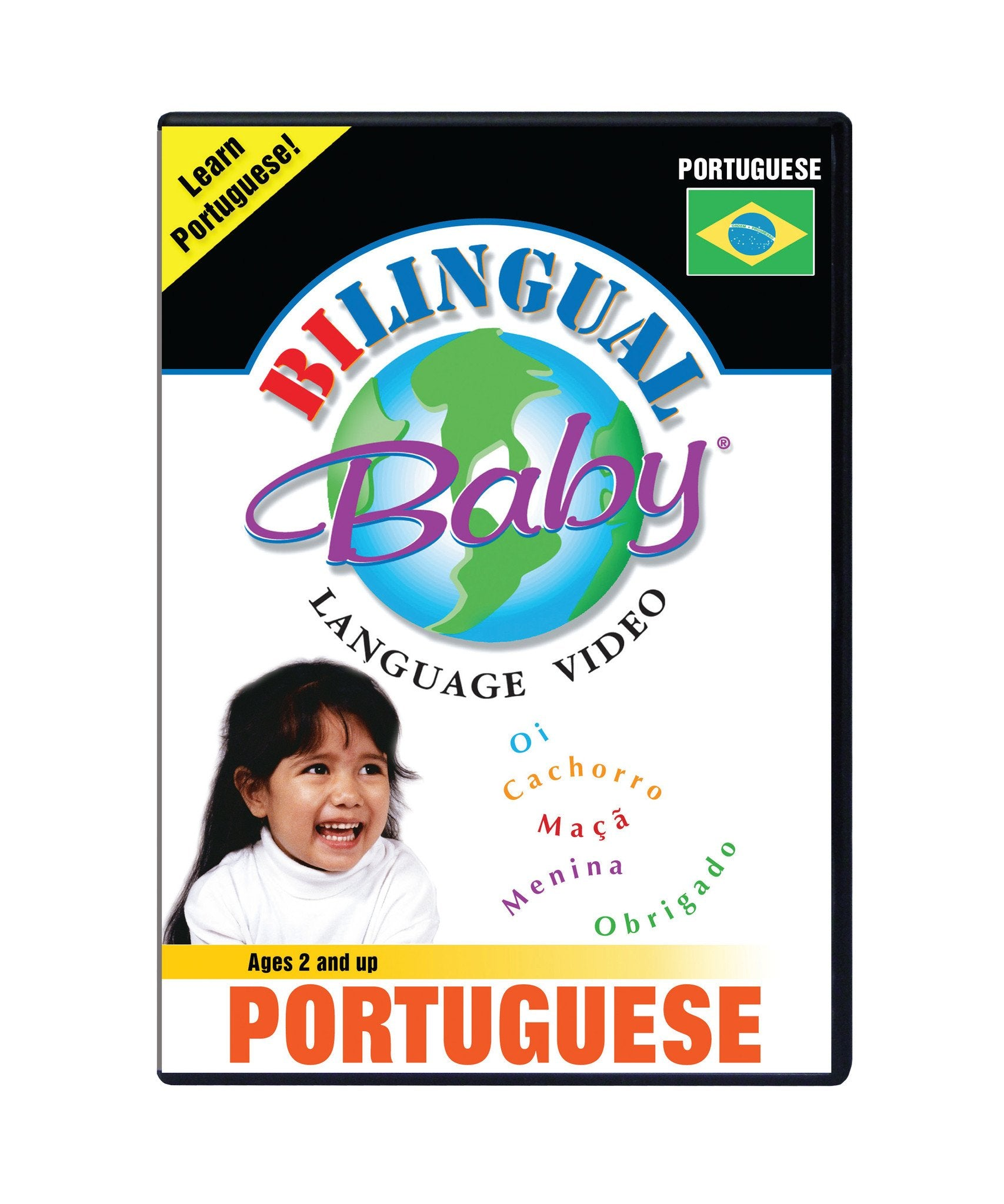 Bilingual Baby Learn Portuguese Total Immersion DVD for Babies and Toddlers by Small Fry Beginnings