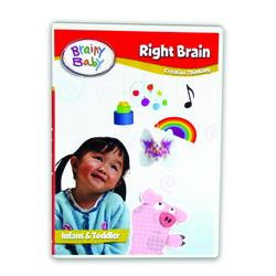 Brainy Baby Right Brain Creative Thinking : Infant Brain Development DVD Deluxe Edition