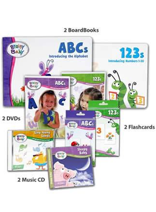 Brainy Baby ABC & 123 Deluxe 8 Piece Learning For a Lifetime Collection