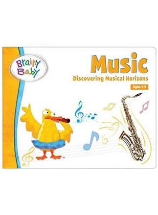 Brainy Baby®Discovering Musical Horizons Board Book for Preschool Children