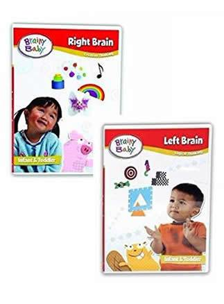Brainy Baby Right Brain and Left Brain Creative and Logical Thinking DVD Set of 2 Deluxe Edition