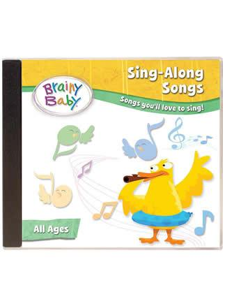 Brainy Baby Sing-Along Songs Music CD Songs You'll Love to Sing
