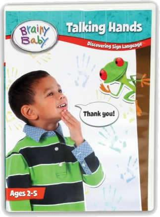 Brainy Baby Talking Hands DVD Discovering Sign Language Deluxe Edition