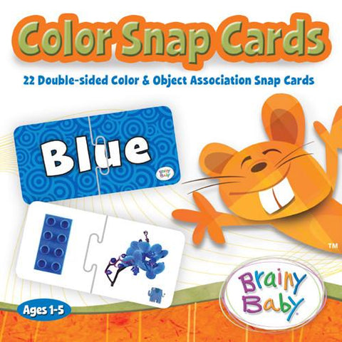 Brainy Baby Learn Colors Snap Card Puzzle