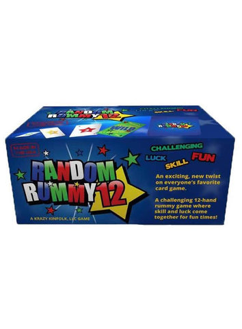 Random Rummy 12 Rummy Game Cards - Family Card Game by Krazy Kinfolk