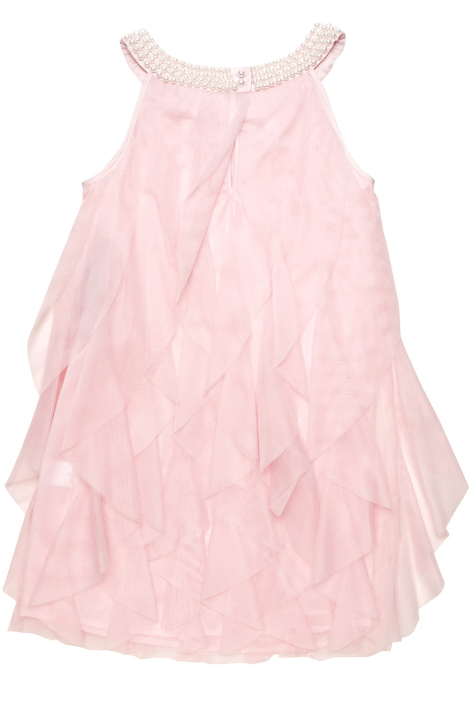 Biscotti All Dolled Up Ruffled Netting Dress in Pink
