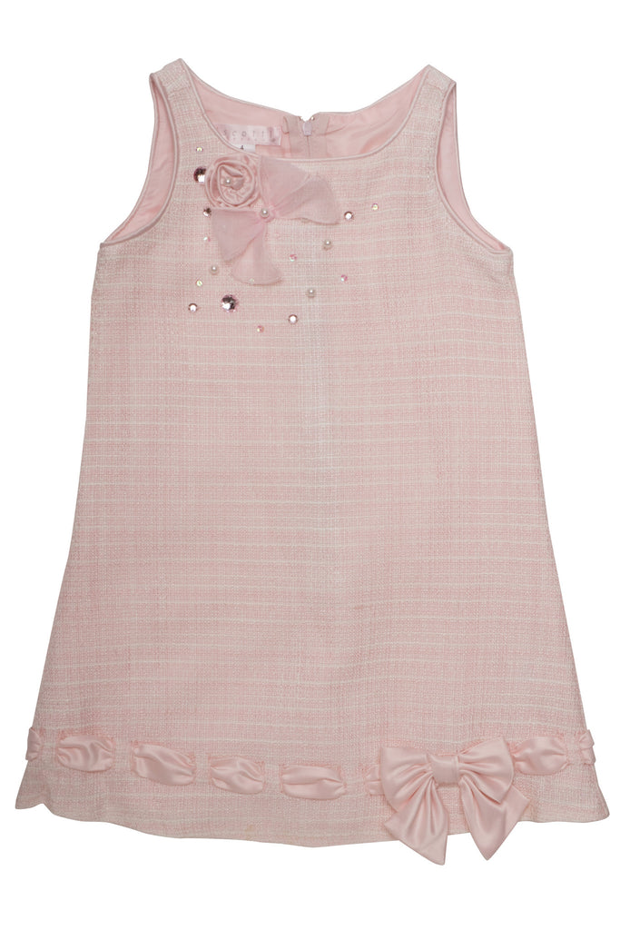 Biscotti Ode To Chanel Sleeveless Boucle Dress in Pink