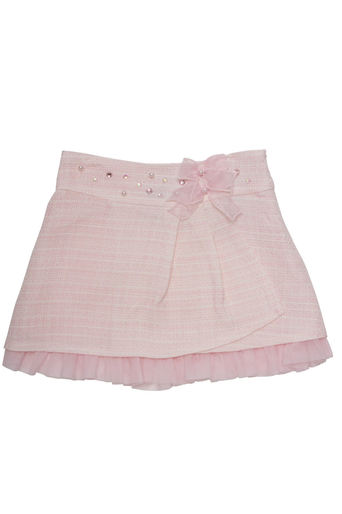 Biscotti Ode To Chanel Boucle Skirt in Pink